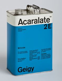 Geigy Acaralate pesticide packaging by Max Schmid (1969-ish). Sexy swiss typography.