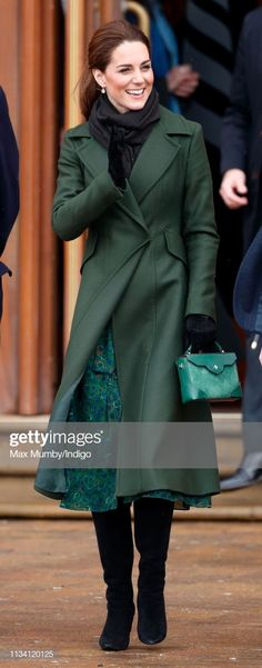 Catherine, Duchess of Cambridge visits Blackpool Tower and greets. Duchess Kate, Duke And Duchess, Duchess Of Cambridge, Royal Uk, Peacock Dress, Kate Middleton Style, Winter Outfits, Personal Style, Celebrity Style