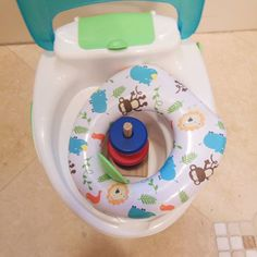 Well, he sure told me what he thinks the potty is good for. At least this is our early stage, introduction stage, and it will be some time before I get more agressive with the training. Are you potty training?  Share your biggest success/laugh on your little one's journey to underwear with #PampersEasyUps Use the hashtag #PampersEasyUps between now and September 30th for a chance to win a $400 AMEX card. #AD . #toddlerlife #momlife #parenting #boymama #boymom #pottytraining