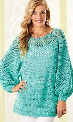 Ravelry: Peekaboo-Back Tunic pattern by Patty Davis  Crochet! Magazine, Spring 2014, is available on the magazine rack.