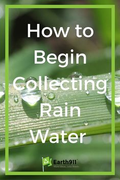 I can't wait to start collecting rainwater for my garden!