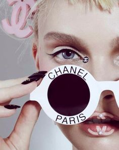 Enly Tammela goes Chanel crazy in the eclectic looks for NO TOFU Magazine by Jamie Nelson