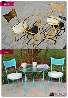 A Better Bistro set.  Bistro set makeover.