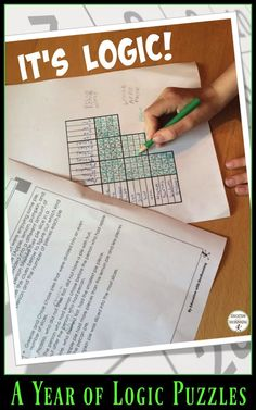 Love having these logic puzzles on hand for my secondary math students.  Great…