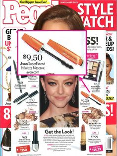 Get the beauty look with #Avon SuperExtend Infinitize Mascara featured in the September issue of @People magazine StyleWatch.