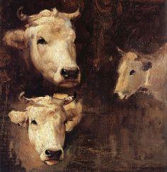 Grigorescu, Nicolae (1838-1907) - Oxen (Constanta Art Museum, Romania) | Flickr - Photo Sharing!