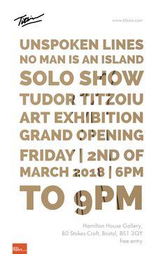 Titzoiu - solo show art exhibition @ Hamilton House Gallery, Bristol @ Hamilton House - 2-March https://www.evensi.uk/titzoiu-show-art-exhibition-hamilton-house-gallery-bristol/244010556