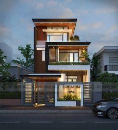 Exterior Design House Dream Homes Architecture Ideas Bungalow Haus Design, Duplex House Design, House Front Design, Small House Design, Modern Bungalow, Apartment Design, Modern Exterior House Designs, Modern House Design, Exterior Design