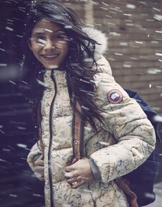 Staying warm on the way to school #CanadaGoose #Microfashion