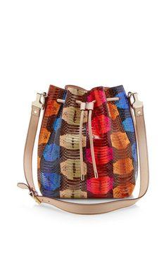 Large Printed Snakeskin Bucket Bag by Proenza Schouler - Moda Operandi