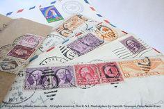 VINTAGE Stamps Air Mail on Envelopes  U.S. by ForsythTreasures