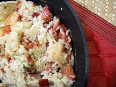 Shrimp and Bacon Risotto- my absolute favorite go to recipe!
