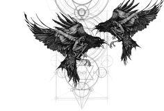 Fenrir Tattoo, Norse Tattoo, Black Line Tattoo, Dark Tattoo, Body Art Tattoos, Sleeve Tattoos, Crow Tattoos, Phoenix Tattoos, Ink Tattoos