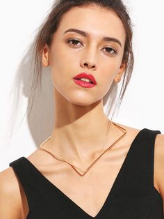 Shop Gold Minimalist Geometric Choker Necklace online. SheIn offers Gold Minimalist Geometric Choker Necklace & more to fit your fashionable needs.