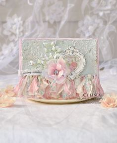 Crafting Life's Pieces: Loving wishes - shabby chic card