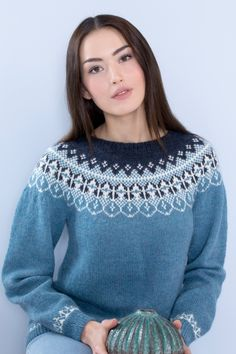 no - dale-ralygebser-blå Fair Isle Knitting Patterns, Pullover, Sweaters, How To Make, Rally, Projects, Fashion, Ganchillo, Threading