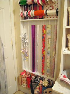 Get Organzied 21 Diy Organizing Ideas Spring Cleaning Gift Wrap Organization Station And