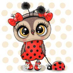 Cute Owl Drawing, Cute Drawings, Cute Owl Cartoon, Ladybug Cartoon, Cartoon Girls, Baby Animal Drawings, Owl Artwork, Owl Clip Art, Owl Wallpaper