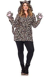 Women's Sexy Cozy Leopard Plus Costume