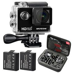 From 49.99:Muson Action Camera Hd 1080p Sports Dv Wifi Digital Video Camcorder 30m Waterproof Underwater Action Camcorder 2 Inch Lcd Screen 170 Degree Wide Angle Lens Helmet Cam