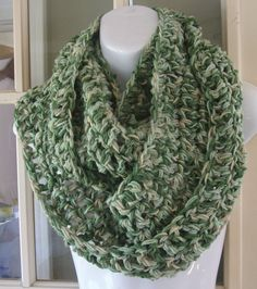 shades of green cowl infinity scarf by MatsonDesignStudio on Etsy, $24.00