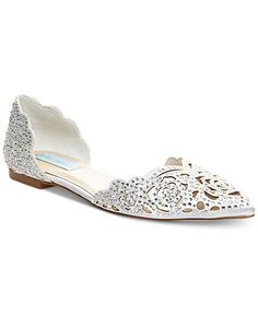 Blue by Betsey Johnson Lucy Embellished Flats - Pumps - Shoes - Macy's