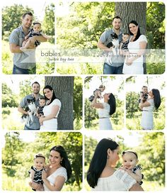 Outdoor 6 month old baby and family photography session.  Ten Tiny Toes Photography