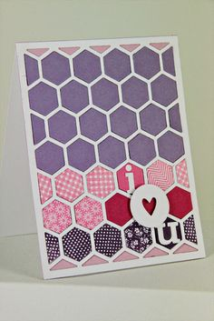 I Love You Card by Erin Lincoln for Papertrey Ink (June 2012)