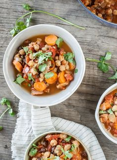 Spicy Red Lentil and Chickpea Stew (Paula's Moroccan Lentil Stew ...