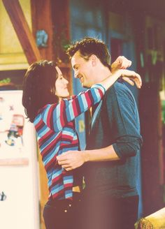 Chandler and Monica. Everyone loves Ross and Rachel but these two totally kick their ass in the love department. One of the best fictional couples i've never met. Boom.