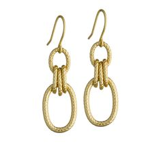 Minaret Earrings - Gold Chain Link Earrings