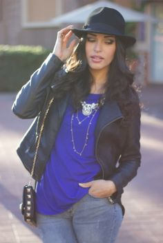 Black & Blue wearing @Charlotte Russe @JustFab @Forever 21 @AnaLiza Alba Leen