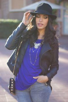 Black & Blue wearing @Charlotte Russe @JustFab @Forever 21 @AnaLiza Alba Leen