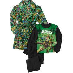 Teenage Mutant Ninja Turtle Boys' 3 Piece Robe Set