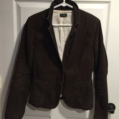 J. Crew Corduroy Jacket Well worn look and has been well worn. Fully lined. Cute ribbon detail in pockets. Priced accordingly. J. Crew Jackets & Coats