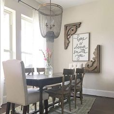 We love how elegant our Atherton Chainmail Chandelier looks in the dining room of @gracegreydesigns.  It's a great addition to a lovely space! #lightinggame #diningrooms #mypotterybarn