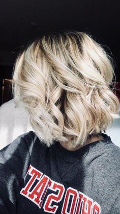 Light Blonde Balayage - Blunt Bob Haircut