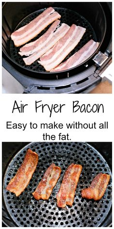 Air Fryer Bacon & Grilled Cheese sandwich