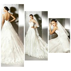 4d5f57c0a2a Our featured wedding dress today is ZOHANA from the San Patrick Collection  by Pronovias. This
