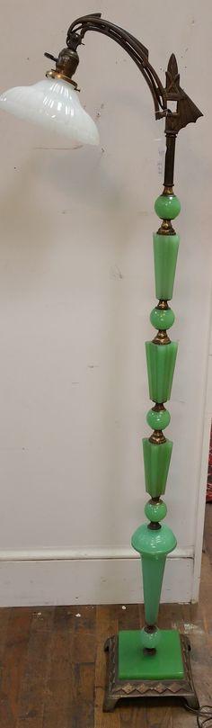 Jadeite Floor Lamp from Booth 111 - $695.00.