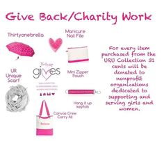 Thirty-One Gives These items make great fundraisers. www.mythirtyone.com/lemellcobbs