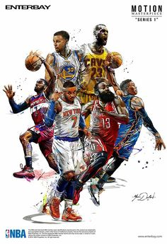 My work of painting and illustrations for the brand ENTERBAY and the NBA. My work of painting and illustrations for the brand ENTERBAY and the NBA. Nba Basketball, Basketball Posters, Nba Sports, Basketball Legends, Love And Basketball, Sports Art, Basketball Workouts, Basketball Birthday, Basketball Quotes