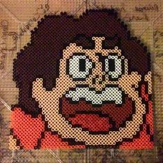 Steven Universe perler beads by ZombieLolitaPrincess (Generalhound's sprite perler beaded) :D YAY!