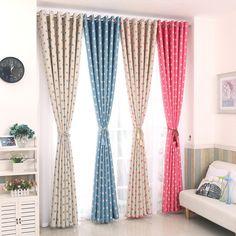 Nuevo lleno de sombra cortinas de tela azul y pink dots cortinas para el dormitorio y sala de estar envío libre