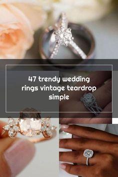 47 trendy wedding rings vintage teardrop simple Wedding Rings Teardrop, Wedding Rings Vintage, Vintage Rings, Trendy Wedding, Diamond Earrings, Engagement Rings, Crystals, Simple, Jewelry