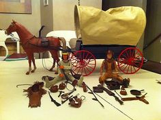 I had the covered wagon and horse, but not the dolls Vintage Toys 1970s, Retro Toys, Vintage Dolls, 1960s Toys, Gi Joe, Toy Wagon, Le Far West, My Childhood Memories, Toys Shop