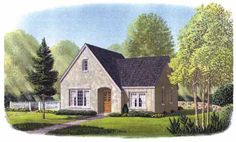 Country Style House Plans - 1029 Square Foot Home , 1 Story, 2 Bedroom and 1 Bath, 2 Garage Stalls by Monster House Plans - Plan 58-368