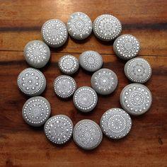 Mandala of Mandala Painted Pebbles