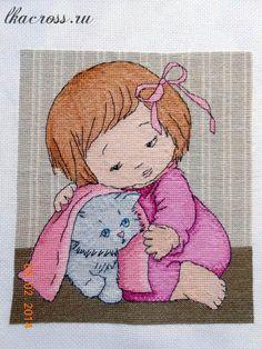 "Бесплатная схема для вышивки крестом. Free cross stitch pattern. ""Kitty-Kat"""