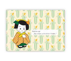 Das Glück wird Dich finden. Konfuzius Glücks Gruss - http://www.1agrusskarten.de/shop/das-gluck-wird-dich-finden-konfuzius-glucks-gruss/    00000_1_79, Grußkarte, Illustration, Klappkarte, Spruch, Sprüche, Support, Weisheit, Weisheiten00000_1_79, Grußkarte, Illustration, Klappkarte, Spruch, Sprüche, Support, Weisheit, Weisheiten
